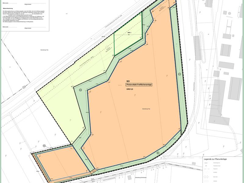 """Planzeichnung Bebauungsplan """"Solarpark Telzer Plan"""""""