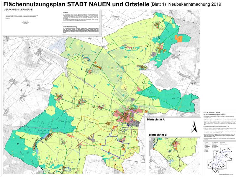 FNP Stadt Nauen Neubekanntmachung 2019 Blatt1