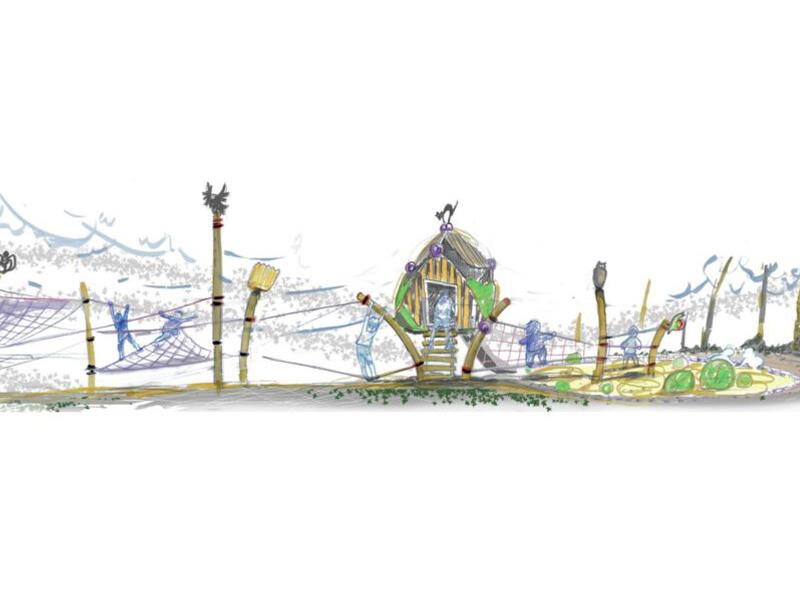 """Spielplatz """"Hexenwald"""" Wandlitz(Entwurf)"""