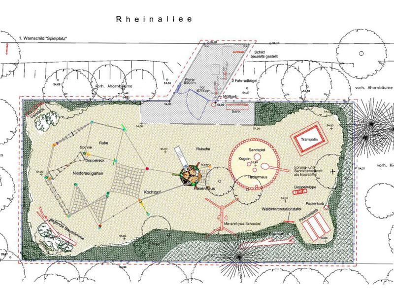 """Spielplatz """"Hexenwald"""" Wandlitz, Plan Entwurf"""